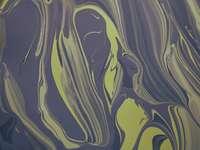 pintura abstracta blanca y azul - Mis primeros intentos en la locura de la pintura abstracta.