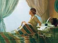 Storie bibliche - Samuele - Il puzzle mostra il giovane Samuele pronto ad ascoltare Dio.