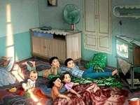 Děti před televizí - Děti sledují televizi