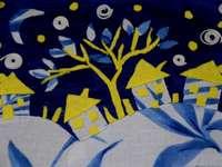Noapte instelata - Noapte insteleata este un colaj realizat din materiale textile.