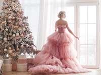 Weihnachtsbaum im Wohnzimmer - m ....................