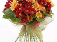 Дъгата на цветята - Решете пъзела! Ще откриете букет цветя! :)