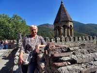 excursion to Tbilisi - my wife in Tbilisi Caucasus