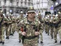 Parada wojsk włoskich Alpini