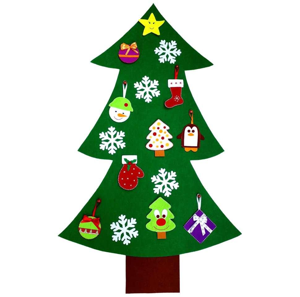 kerstboom - het monteren van de vier stukken (2×2)