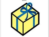 Puzzle-PCS Geschenksymbol.