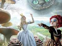 Alice in Wonderland - Alice in Wonderland puzzle for children and Disney movie is in the test. movie for children of life.