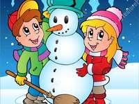 Χιονάνθρωπος - Η χαρά του να φτιάχνεις χιονάνθρωπο!