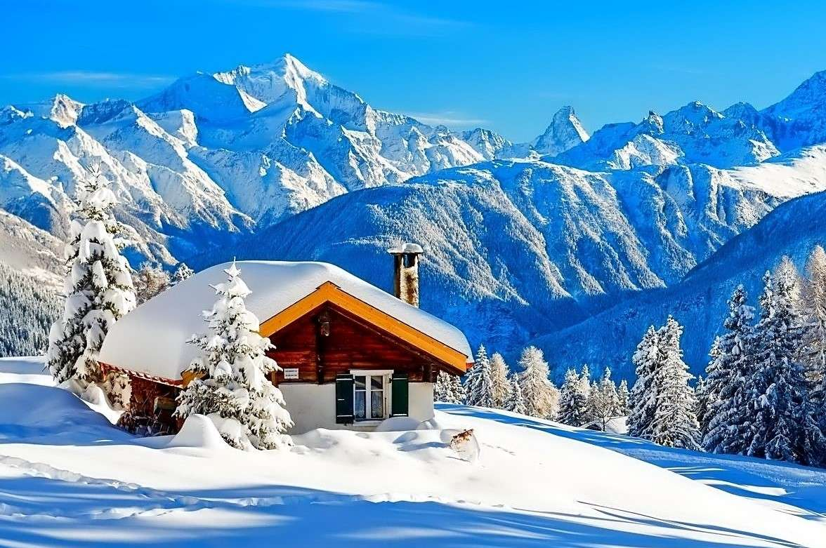 Cottage In The Mountains, Snow - Cottage In The Mountains <Snow (12×8)