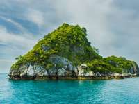 copaci verzi pe faleză - Golful Thailandei, Thailanda