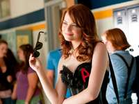 Easy A Emma Stone - Emma Stone as Olive in sexy corset