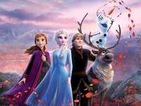 frozen 2 - frozen 2 ana elsa kristof and sven the reindeer with olaf. also is that elsa freezes but ana does no