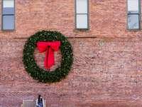 zelený věnec - Duch Vánoc. Napa Valley, Spojené státy