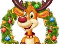 vánoční dekorace - Sob Rudolf - Santa Claus