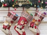 chaussettes de noël pour cadeaux