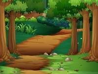 paesaggio forestale - Questa immagine mostra un'immagine della foresta