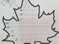 foglia e esercizi grafici - esercizi grafici a forma di foglia