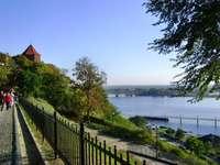 kilátás nyílik a Visztula folyóra Płockban - feleségem utazásai Lengyelországba
