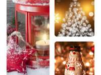 vánoční prázdniny - Vánoční obrázek vytvořený ve fotoshopu, pěkné aranžmá
