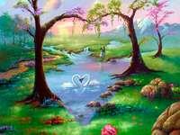 Romantische wandeling - een prachtige plek voor stellen
