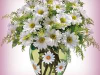 Vase with daisies - A wonderful vase of a bouquet of daisies.