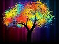 Strălucitor copac colorat - Strălucitor copac colorat