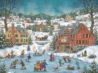 Pictarea Crăciunului în peisajul de iarnă - Pictarea Crăciunului în peisajul de iarnă