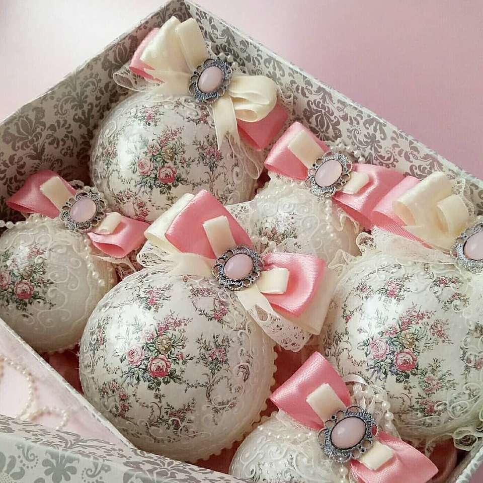 Jouets d'arbre de Noël - Cadeau composé de 6 jouets de sapin de Noël (12×12)
