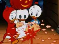 Donald a Goofy - plachtění vláken - Kaczor Fauntleroy Donald (Kačer Donald Fauntleroy, vlastněný Paperinem) - syn Kaczora Kwaczymona