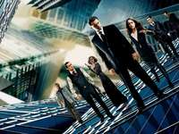 Inception - Cast shot in modern architecture