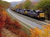 ősz, futó vonat