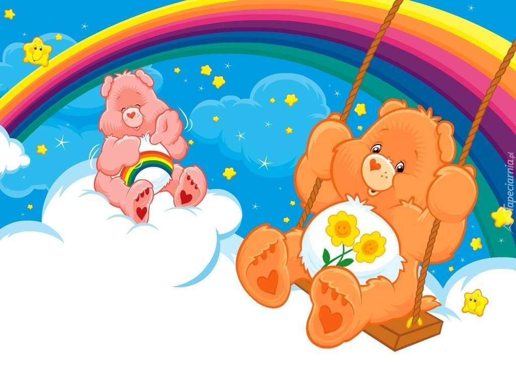 Teddybären, Regenbogen Online-Puzzle