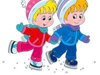 Łyżwiarze! - Na łyżwach nadeszła zima