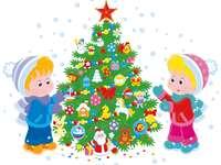 Den dekorerade julgranen