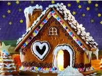 Gingerbread house - Arrange a gingerbread house