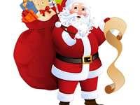 Άγιος Βασίλης με μια τσάντα δώρων - Άγιος Βασίλης, χριστουγεννιάτικο δέντρο, δώρα