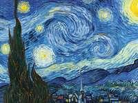 Noche estrellada - noche en el arte, noche estrellada