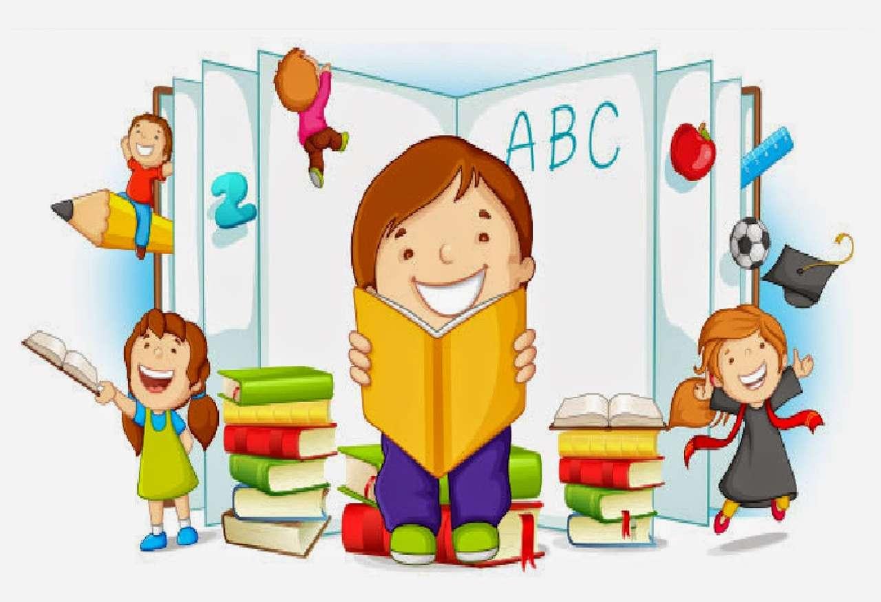 Παιδιά με βιβλία παζλ