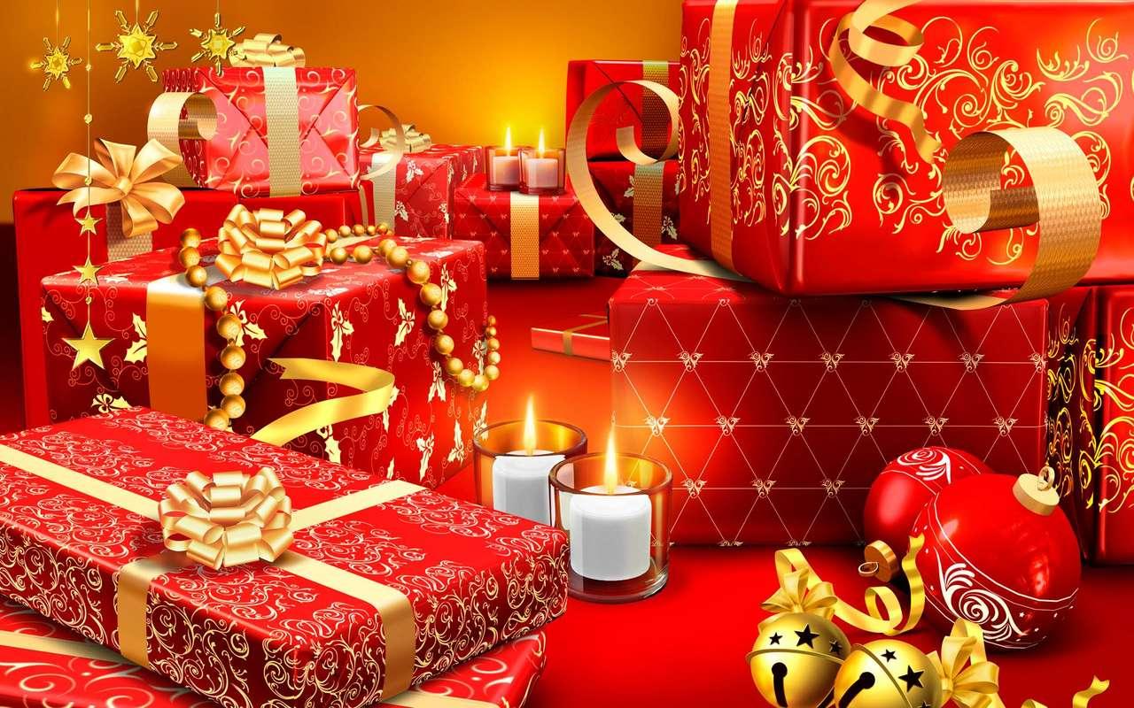 regalos de Navidad - Una mesa llena de regalos navideños (14×9)