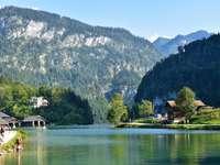víztömeg kék ég alatt - Schönau, Königssee, Königssee, Berchtesgadener Land, Németország