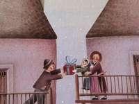 paquet rouge - image de conte de fées pour enfants