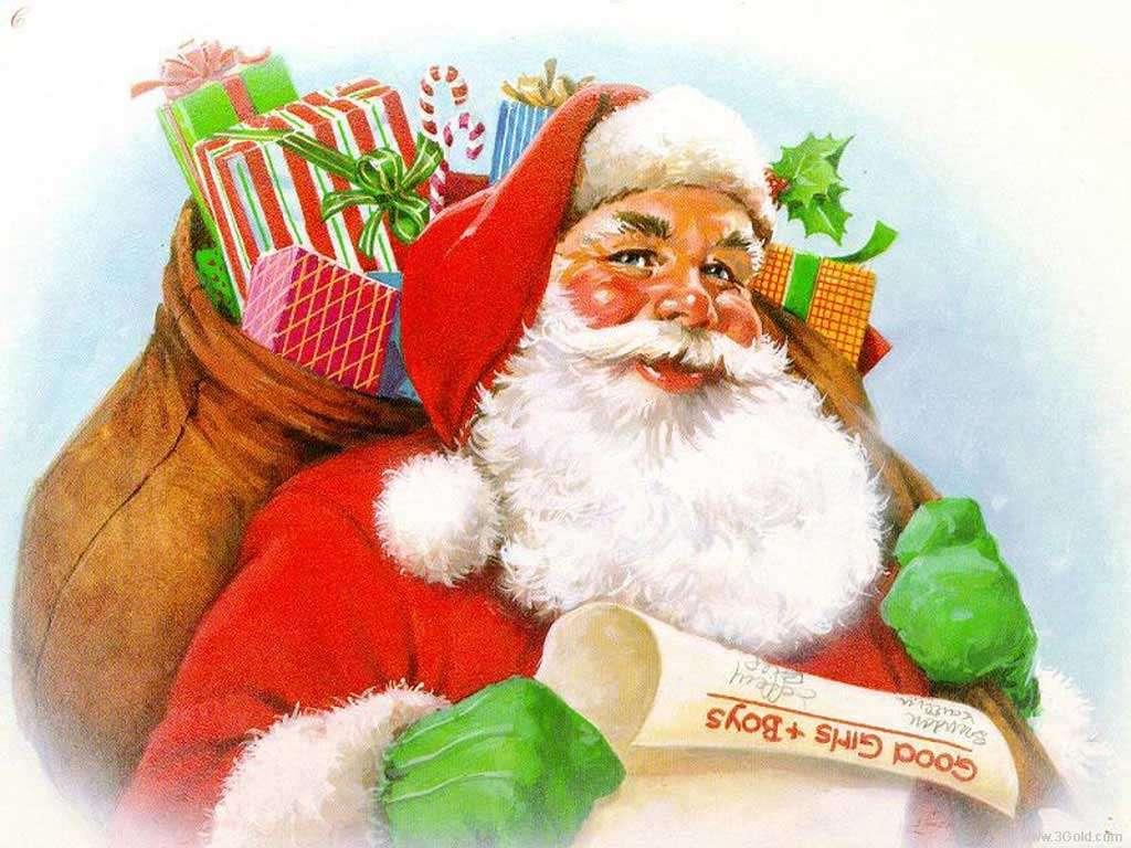 père Noël - Père Noël avec un sac (13×10)