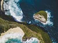 fotografie aeriană a insulei - Bunga Mekar, Nusapenida, Regența Klungkung, Bali, Indonezia
