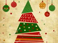 buon Natale - Ornamenti di pino di Natale