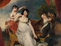 γυναίκα σε λευκό φόρεμα ζωγραφική - Τίτλος: Maria Mathilda Bingham with Two of Children. Ημερομηνία: 1810. Ίδρυμα: