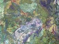 πολύχρωμη αφηρημένη ζωγραφική - Η δυτική περιοχή της Μεγάλης Αμμώδους ερήμου της Αυστρ