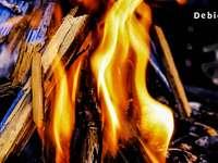 un feu qui donne de la lumière et de la chaleur