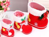 Geschenken in laarzen - In deze afbeelding zien we de laarzen wachten tot de kerstman komt,