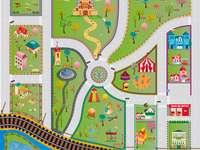 parti di una mappa - Fai il puzzle della mappa