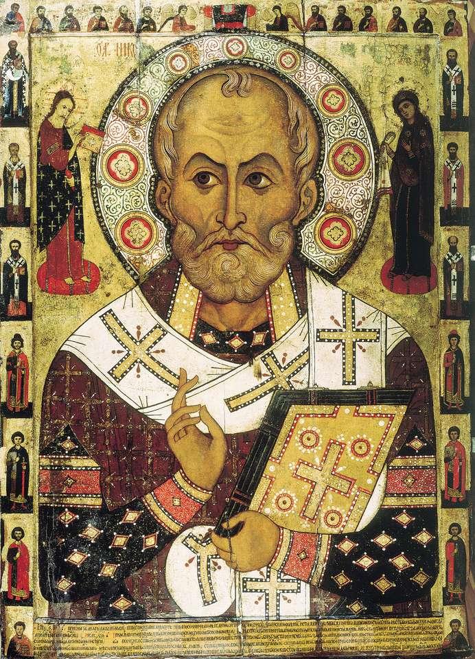 St. Nicolas - Les puzzles forment l'icône du Père Noël (6×9)